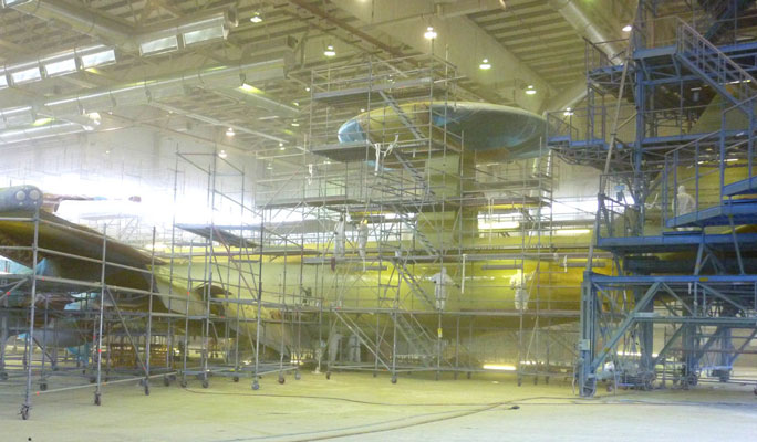 Aircraft paint booths, aerospace spraybooths