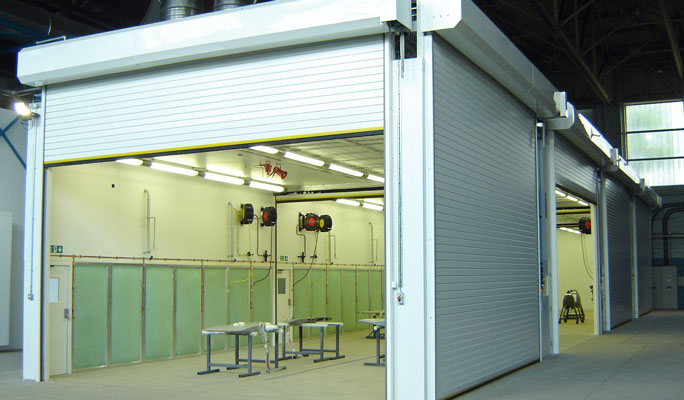 aerospace spraybooths and spraying facilities