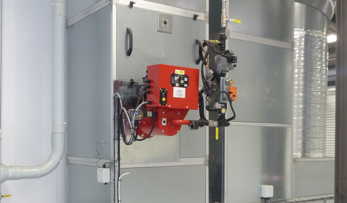 direct gas-fired burner system energy saving spraybooths