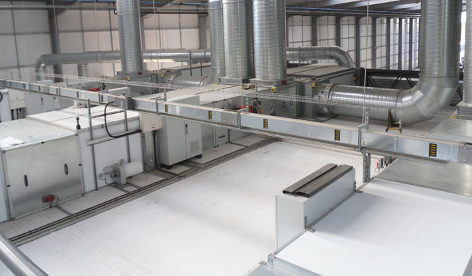 High efficiency, energy saving spraybooths from STL