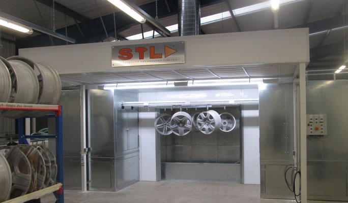 alloy wheel powder coating plant