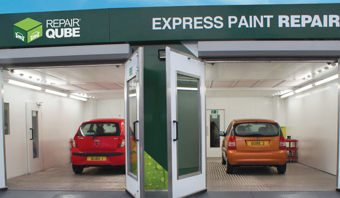 Eco Repair Qube - bodyshop that can be installed in days