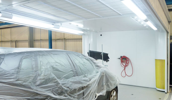 mobile spray booth