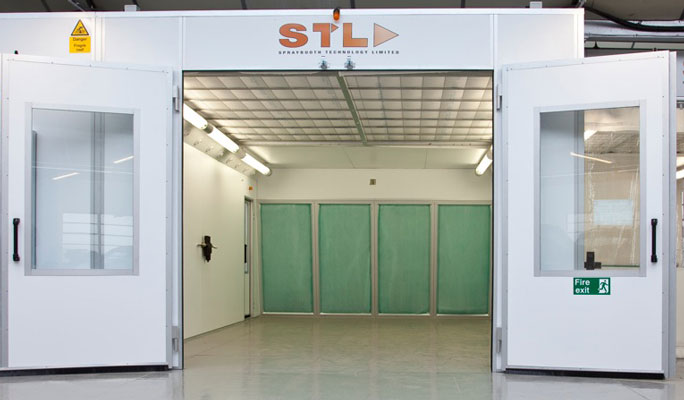 energy saving rear wall extraction spraybooths
