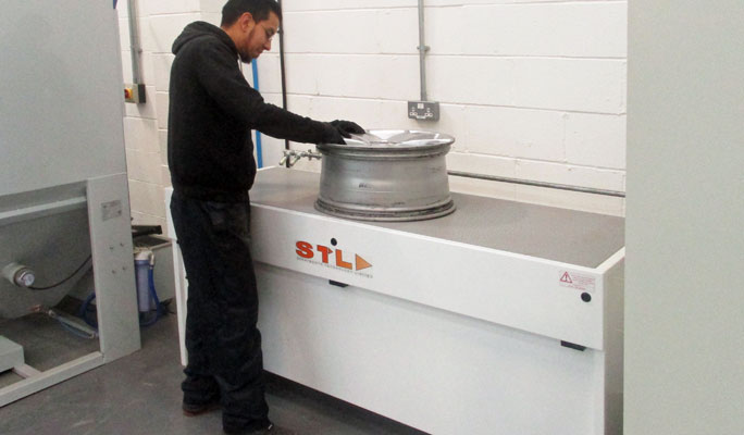 alloy wheel preparation air bench