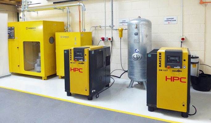 Bodyshop equipment compressors