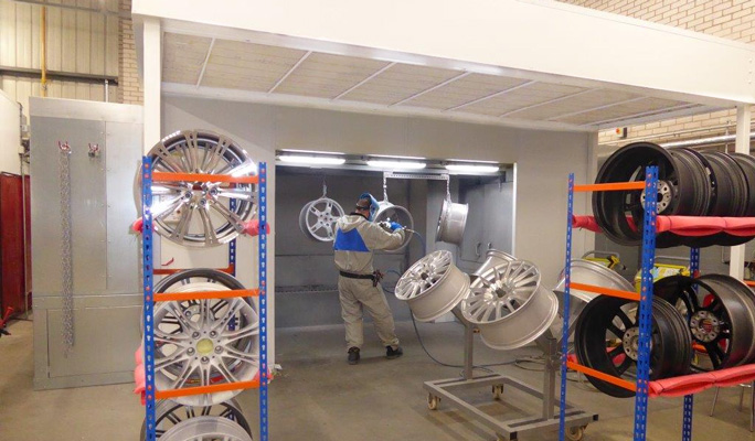 alloy wheel powder coating spraybooth